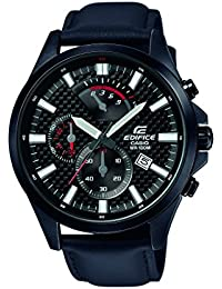 Casio Edifice Herrenuhr Analog Quarz mit Edelstahlarmband – EFV-530BL-1AVUEF