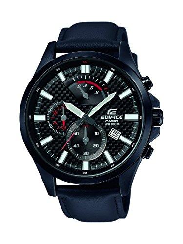 Casio Reloj Analogico para Hombre de Cuarzo con Correa en Acero Inoxidable EFV-530BL-1AVUEF