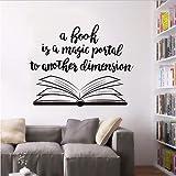 Open Book Design Wall Library Decorazione Interni Libri Appuntamento a Parete Rimovibili Open Books Vinyl Wall Poster 57X45Cm
