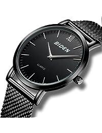 Relojes de Diseñador Simple Para Hombres Reloj Lujo Ultra Delgado Milano Hombre con Correa de Malla