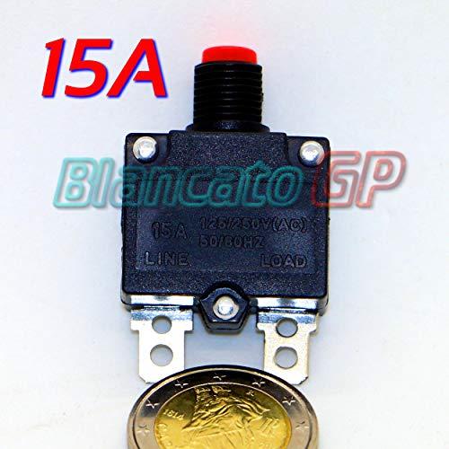 BlancatoGP Interruttore Automatico Termico 15A Tipo Pulsante AC DC 12v 220V Senza Fusibile