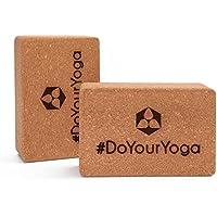 Preisvergleich für #DoYourYoga 2X Yoga-Korkblock »Kinnari« / Yogaklotz aus 100% Natur-Kork, ideal zur Unterstützung spezieller Yoga-Übungen Doppelpack/Maße: 23 x 15 x 7,5cm