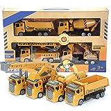 GAO Simulazione per Bambini Ingegneria inerziale Veicolo Escavatore Mixer Escavatore Modello di Auto Giocattoli 4 Set