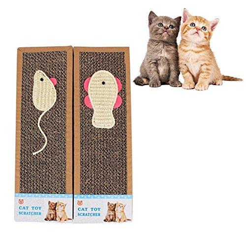 2Pcs Katzen Kratzbrett Recycelbar Kratzpad Sisal Cat Scratch Board Kratzmatte für die Krallenpflege Ihrer Katze Möbel Bett Mattess Protector Tisch Stuhl Sofa Beine Mat (Kratzen Sisal Pad)