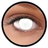 FXEYEZ® Farbige Kontaktlinsen weiß Dead Zombie