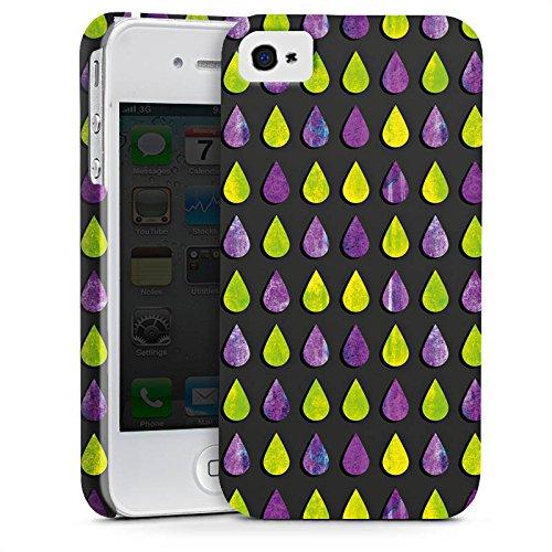Apple iPhone X Silikon Hülle Case Schutzhülle Regen Tropfen Muster Premium Case glänzend