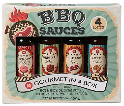 Modern Gourmet Foods - BBQ Saucen Geschenkset - 4 individuelle Barbecue-Saucen Geschmacksrichtungen