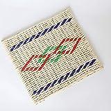 YCCCC Cuscino Tatami Giapponese Set Cuscino da Pavimento, Sedile Naturale Tappetino da Meditazione Tappetino Multi-Funzionale Handmade Traspirante Quadrato, Stuoia di Paglia, 50Cm