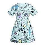 iEFiEL Kinder Mädchen Kleider Sommer ärmellos geblümten Einhorn Kleid Baby mädchen lässige Sommerkleid Mint Gr. 80-116 Mint Grün 92-98
