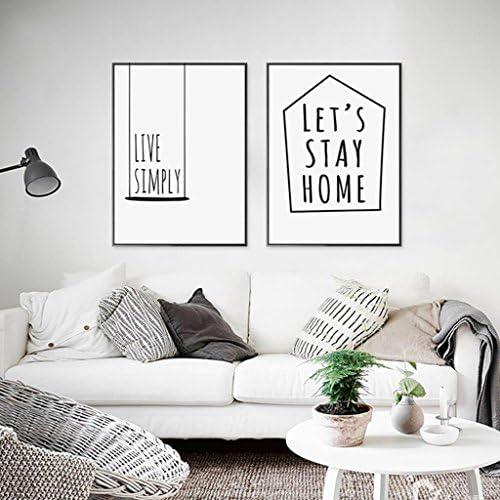 DS- Photo Wall Lettere Inglesi Decorativa di Pittura Decorativa Inglesi nordica Vivente Semplice Che appendono i murali minimalisti Moderni viventi creativi del Salone&& (Modello   30  40) c23f41