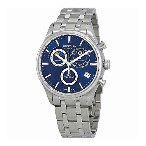 Mens Certina DS-8 Precidrive Moonphase Chronograph Watch C0334501104100
