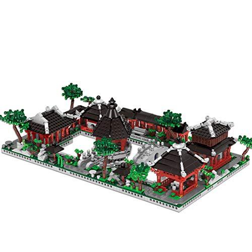 12che 2479 Stücke Alte Chinesische Architektur Modell Ziegel Suzhou Garten Modell Bausteine Set für Kinder, Erwachsene