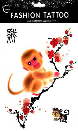 Temporäre Tätowierungen für verschiedene Zodiac 12 chinesische Tierkreiszeichen -