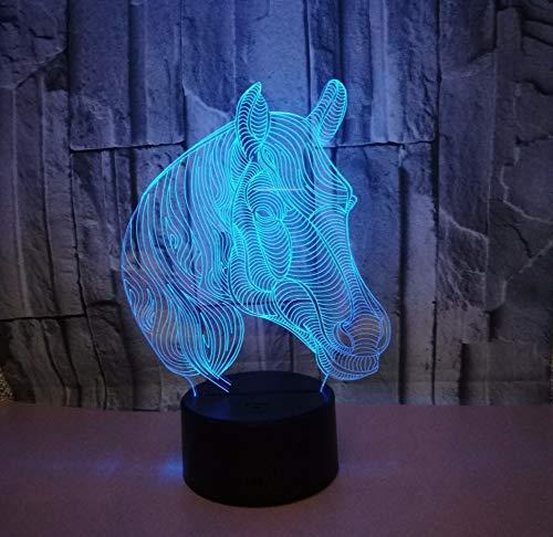 3D Illusion Lampe Led Nachtlicht 3D Led Auto Nachtlicht Farbverlauf Jeep Styling Usb Bett Schlafzimmer 3D Tischlampe Usb Innendekoration Atmosphäre Lampe Geburtstag Neues Geschenk, Stil D. (Bett Jeep)