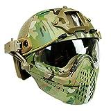 JohnnyLuLu Casque Tactique Militaire de Paintball Airsoft, Casque de Combat Complet...
