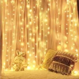 Barriera fotoelettrica, 300 LEDs Barriera fotoelettrica 3M * 3M IP65 Impermeabile 8 modalità Luci fiammeggianti bianco caldo per la festa di Natale Camera da letto Interno ed esterno Decorazione