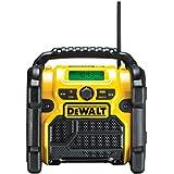 DeWalt Akku- und Netz-Radio/ Baustellen-Radio (für 10,8 - 18 V, 3.5 mm Aux Eingang zum Abspielen externer Geräte, robustes Gehäuse, 1.8 m Kabel) DCR020