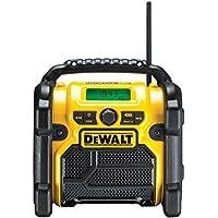 DeWalt DCR020-QW Radio de chantier compacte 10,8 V - 14,4V - 18V - Conçue pour résister aux chocs - Sur secteur ou batterie XR Lithium-ion - Fréquence : FM/AM/DAB - Livrée sans batterie
