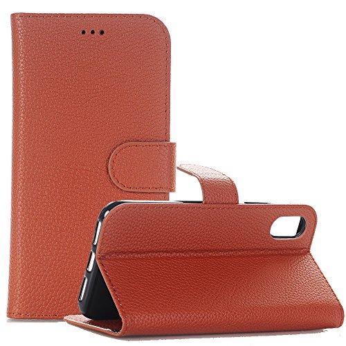 iPhone 8 Plus Leder Hüllen, TechCode Flip PU Leder Brieftasche Case Hülle Tasche mit Kartenfächer und Bargeld für iPhone 8 Plus 5,5'' 5.5 Inch(iPhone 8 Plus, Braun)