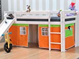 3tlg.Thuka Vorhang Set Höhle Spielhöhle Zubehör Hochbett Bett Kinderbett orange