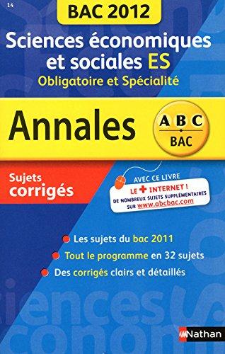 ANNALES BAC 2012 SC ECO SOC ES