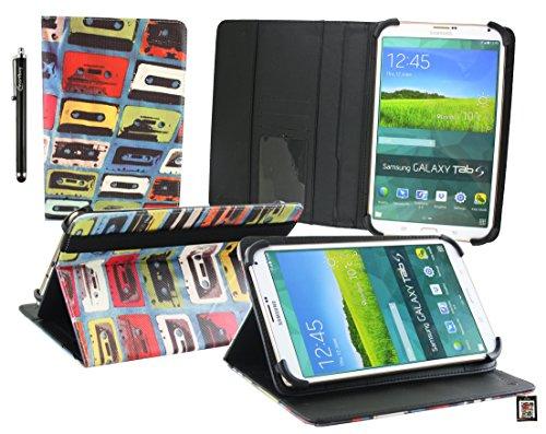Emartbuy® Jumper EZpad Mini3 8 Pollice Tablet PC Retro Cassetta Angolo Multi Esecutivo Portafoglio Custodia Case con Scomparti per Carte di Credito + Stilo