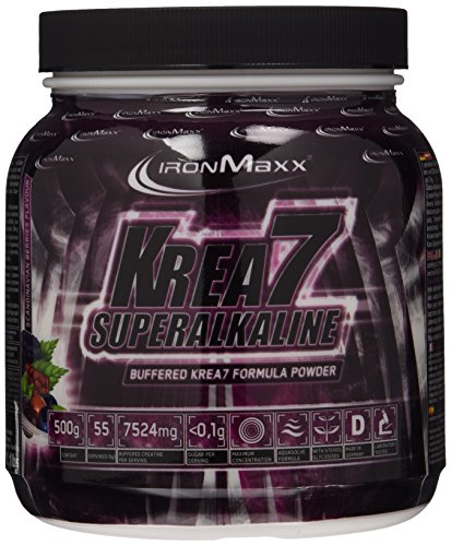 Ironmaxx Krea7 Superalkaline Powder Scandinavian Berries, 1er Pack (1 x 500 g)