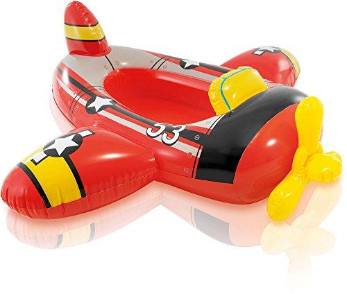 Warenhandel König Kinderboot Boot Gummiboot Schlauchboot für Pool Schwimmbad Pool Cruiser (Flugzeug Rot)