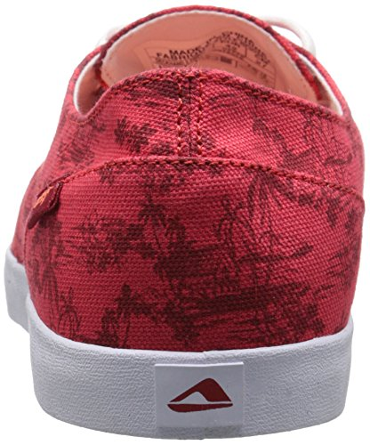 Reef Deck Hand 2 Prints, Baskets Basses Homme Rouge - Rojo (Red Bali)