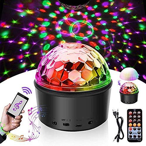 Nachtlichter Kinder-Disco-Licht-Disco-Lichteffekt-Timing-Funktion 9 Farbband-Fernbedienung und USB-Kinder Halloween Weihnachten Geburtstag Karaoke Club Bar Zimmer