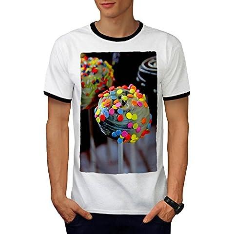 Candy Photo Shop Food Men L Ringer T-shirt | Wellcoda
