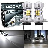 Ngcat auto LED Lampadina 2PCS H7DRL Fog Light replacement chipset 283521SMD lampadine LED con lente proiettore auto guida luci diurne, Xenon bianco ,10–16V 10.5W