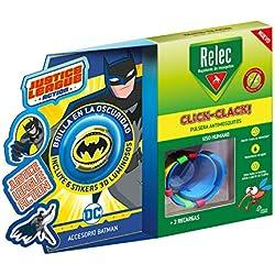 Relec Pulsera Antimosquitos Batman - Eficaz contra el mosquito tigre. Resistente al agua - Contiene 2 recargas.