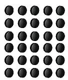 50x Magnete, Schwarz Ø 24mm, Haftmagnete für Whiteboard, Kühlschrankmagnet, Magnettafel, Magnetwand, Magnet Rund (5)