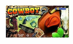 Gonher- Cowboy Set Vaquero con revólver y Sombrero, sin sin Talla (37-880)