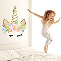 Unicorn horn wall sticker | Size and colour options available | Perfect for creating a unicorn themed room | Unicorn wall stickers