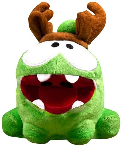 Om Nom Antlers Poseable Plush - Cut The Rope - 12cm 5""