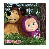 Jerry Fabrics - Mascha und der Bär (im Wald) Kissenbezug 40x40 cm