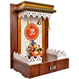 7CR Art and Craft Wooden Temple/Home Temple/Pooja Mandir/Pooja Mandap/Temple for Home/Handcrafted Home Decorative Itemization Gifts Show Piece Item
