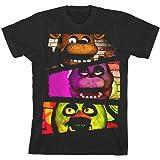 Desconocido Five Nights at Freddy'S Characters Boy's Black T-Shirt: Medium