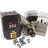 2.2 KW Wassergekühlter Spindel Motor ER20 Kit & 2,2 kW 220V Inverter VFD 2HP & 80mm Clamp Mount & 75 Wasserpumpe mit 6m Pipe & 14ST/Set ER20 Collet für CNC Fräser Fräsen Schneidemaschine