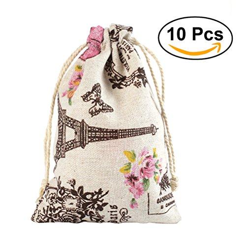 bestomz 100Leinen Kordelzug Geschenk Tasche Rustikal Hochzeitsgastgeschenke (Vintage Baby-dusche-bevorzugungen)