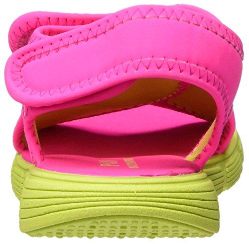 Ralph Lauren Banks, Sandales Compensées fille Pink (Pink SPORTBUCK/Citron)