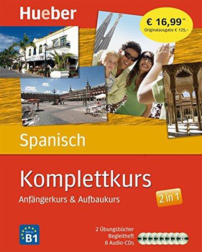 Komplettkurs Spanisch: Anfängerkurs & Aufbaukurs / Paket: 2 Übungsbücher + 8 Audio-CDs