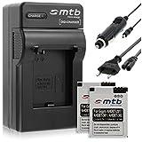 2x Baterías AHDBT-301 + Cargador para Gopro Hero3 Black, White & Silver Edition -1050mAh-