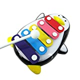 Musical Toys, Rcool Child Baby 5-Note Xylophone Penguin Music Toys Children Musical Instrument Toys Wisdom Development Puzzle Toys Kids Gift (Black)