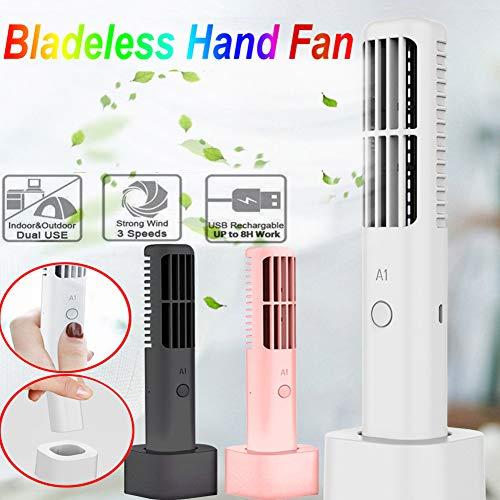 Lin XH Blattloser Handkühler 360 Grad tragbarer Mini-Akku No Leaf Handy Fan -