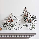 Lights4fun 2er Set Metall Sterne zum Aufhängen Weihnachtsdeko 28 und 15cm