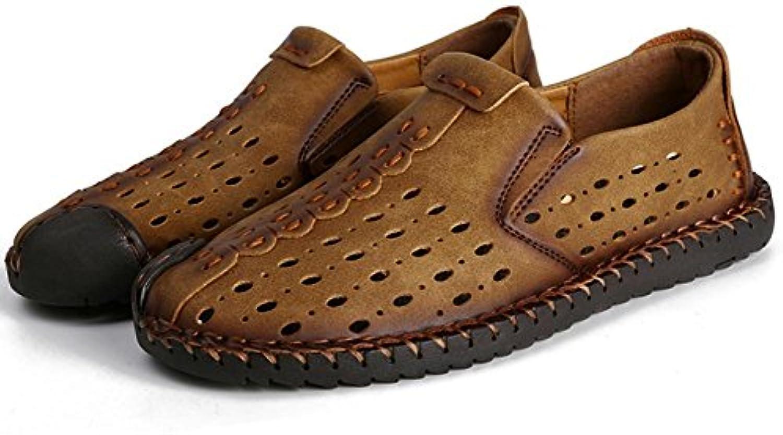 2017 sandalias de los hombres ocasionales veranos ahueca los zapatos de malla transpirable nueva comodidad de