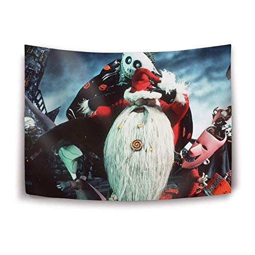 gfdssdfvcx Nightmare Before Christmas Tapisserie Home Decoration Wandbehang, 230x150_cm_A1 - Nightmare Before Christmas-schal